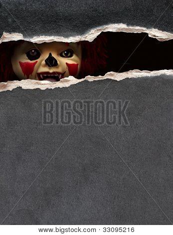 Dark series - a look from darkness. Spooky clown