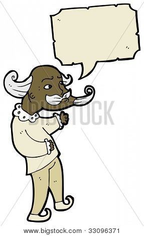 cartoon elizabethan man