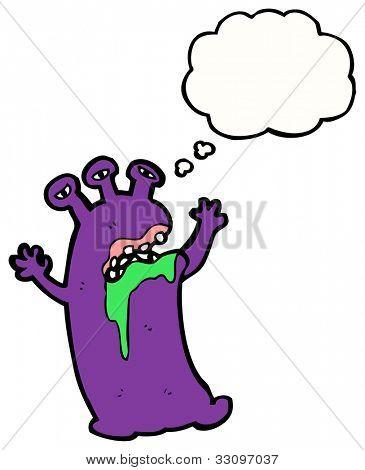 cartoon gross monster