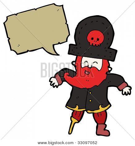 cartoon pirate captain with red beard