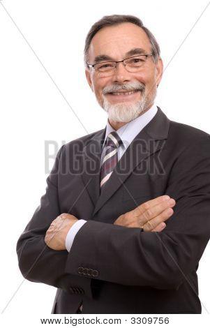 Senior Businessman Smiling