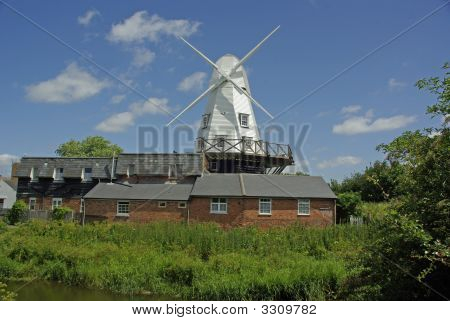 Windmill And Mill At Rye
