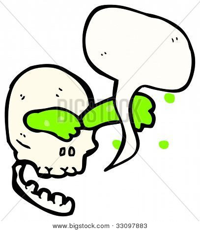 gross talking skull cartoon