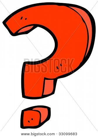 cartoon question mark sign