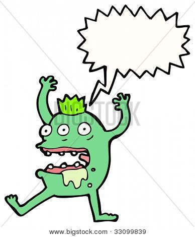 cartoon gross monster