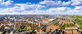 Panoramic View At The City Center Of Copenhagen, Denmark poster