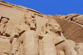 foto of ramses  - Abu Simbel Temple of King Ramses II - JPG