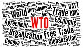 Wto, World Trade Organization Word Cloud Concept poster