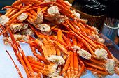 stock photo of cooked crab  - This is Crab legs seafood on Ice - JPG