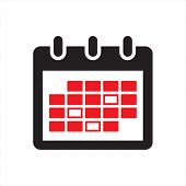 Calender Icon Isolated Black On White Background, Calender Icon Vector Flat Modern, Calender Icon, C poster