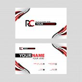 Logo Rc Design With A Black And Red Business Card With Horizontal And Modern Design. Cr Logo Design poster