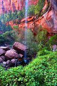 Lower Emerald Pool Waterfall Utah poster