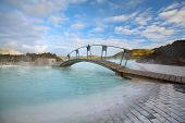 picture of porphyry  - The Blue Lagoon on a sunny day in Iceland - JPG