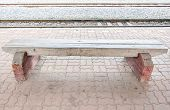 Wooden White Bench