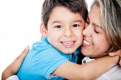 stock photo of mums  - Affectionate mother and son  - JPG