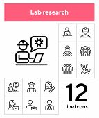 Labor Icons. Set Of Line Icons On White Background. Technician, Consultant, Call Center. Job Concept poster