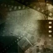 Filmstrips film negative frames background.  poster