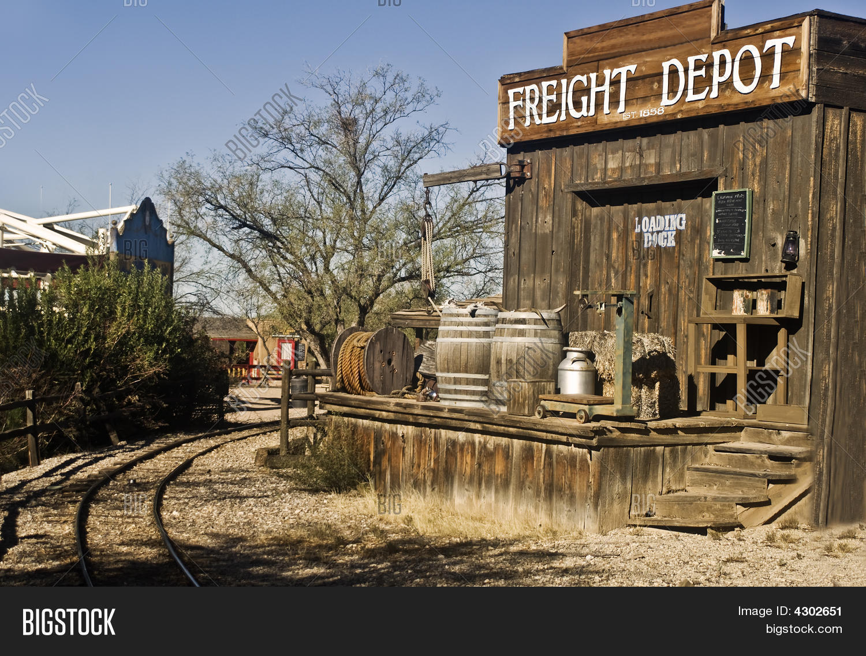 Old West Freight Train Loading Image Amp Photo Bigstock