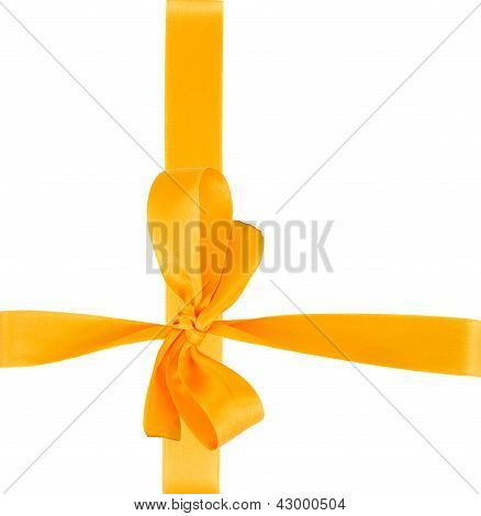 yellow ribbon with bow