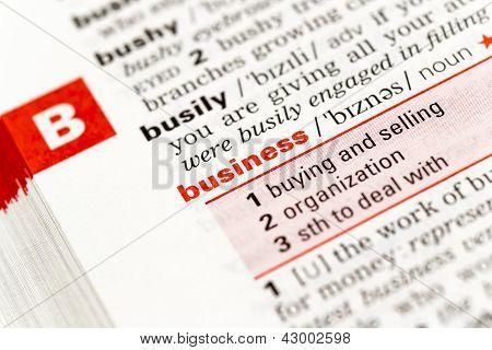 La palabra negocio