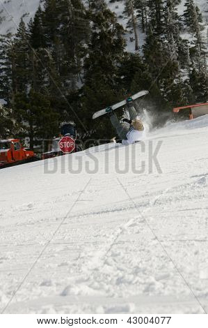 Snowboarder Wipeout