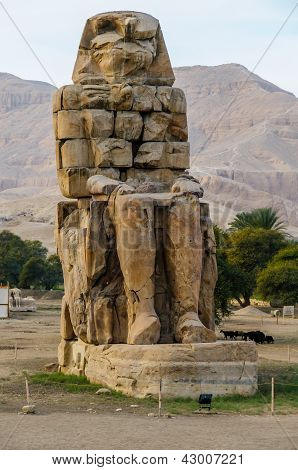 Colossi Of Memnon In Luxor In Egypt