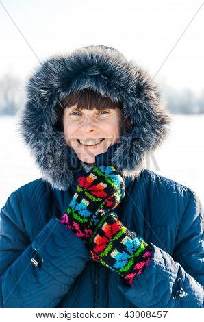 Anna Smiling On The Frozen Lake