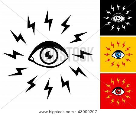 Eye And Lightning