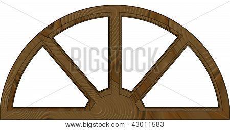 Marco de ventana de madera arqueada en capas doble aislado