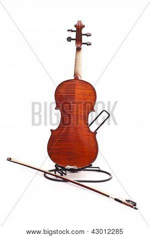 Back Of Violin And Fiddlestick