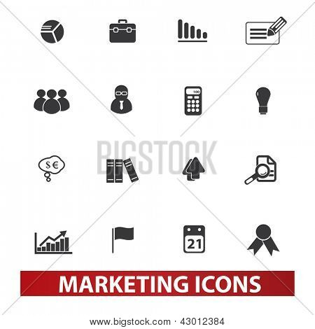 marketing icons set, vector