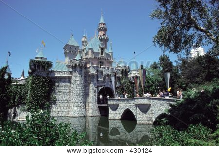 Theme Park Castle With Pond