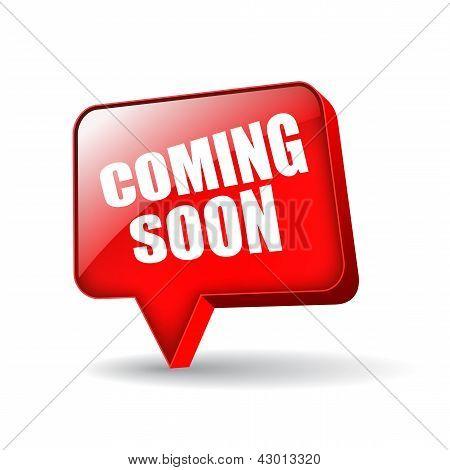 Coming soon vector symbol