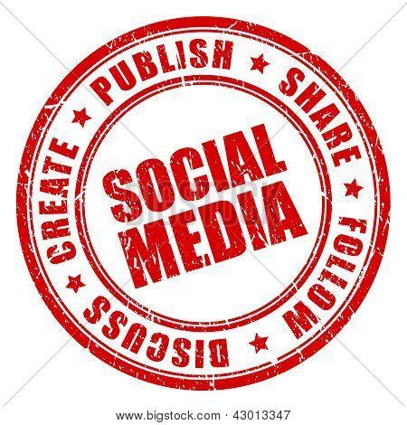 Social media vector stamp
