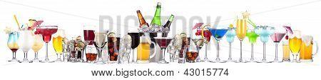 Imagens diferentes de álcool isolado