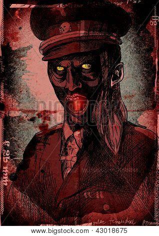 crypt monster - officer