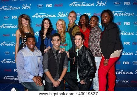 LOS ANGELES - MAR 7:  Top 10 Contestants arrives at the 2013