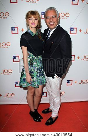 LOS ANGELES - MAR 7:  Bella Thorne, Joe Mimran arrive at the introduction of Joe Fresh at JCP at the Joe Fresh at JCP Pop Up Store on March 7, 2013 in Los Angeles, CA