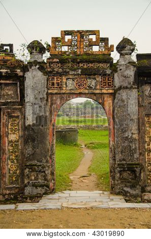 Imperial City (Citadel) in Hue, Vietnam - gate