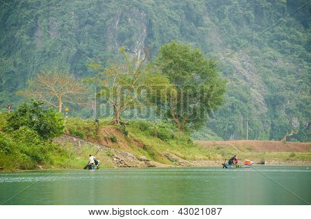 Phong Nha-K? B� ng National Park, Vietnam - mountain landscape with river