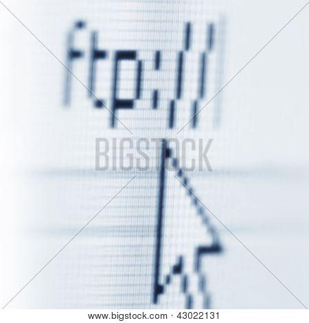 Foto de macro de protocolo FTP arquivo transferência da tela