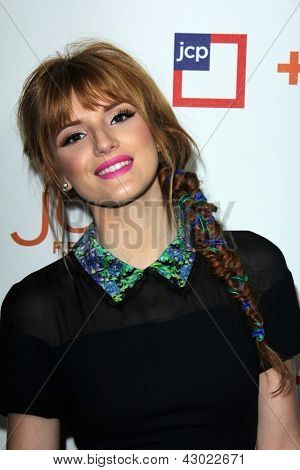 LOS ANGELES - MAR 7:  Bella Thorne arrives at the introduction of Joe Fresh at JCP at the Joe Fresh at JCP Pop Up Store on March 7, 2013 in Los Angeles, CA