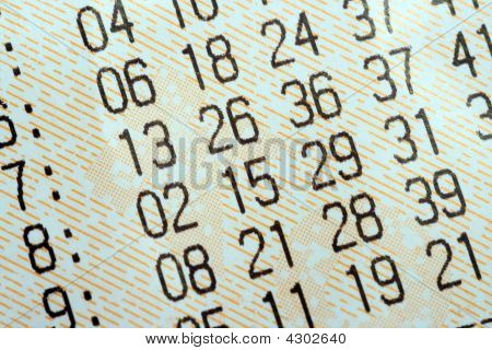 Close-up Of Lottery Ticket