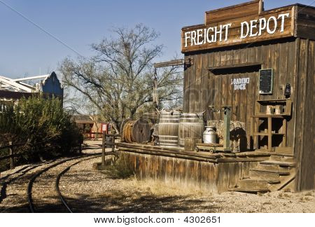 Old West Freight Train Loading Station