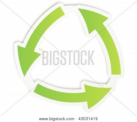 Green Recycle Icon Sticker