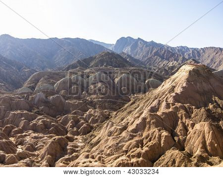 Ansicht von Danxia Landform in Zhangye, Gansu, China