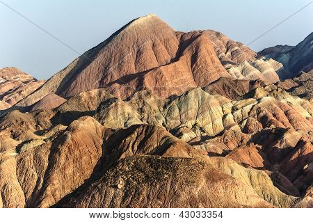 Danxia Landschaftsformen in Zhangye, Gansu, China