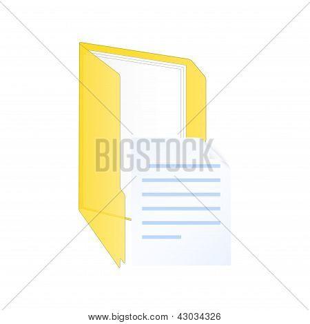New Document Icon. Vector Illustration