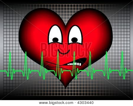 Heart Shocked With Cardiogram