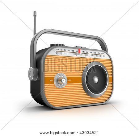 Concepto de radio retro.
